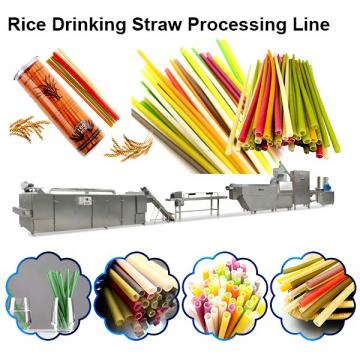 Automatic beverage sugar cane plant drinking straw making machine