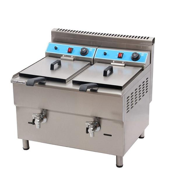 Astar Catering Equipment Counter Top Luxury Gas 2-Tank Deep Fryers #1 image