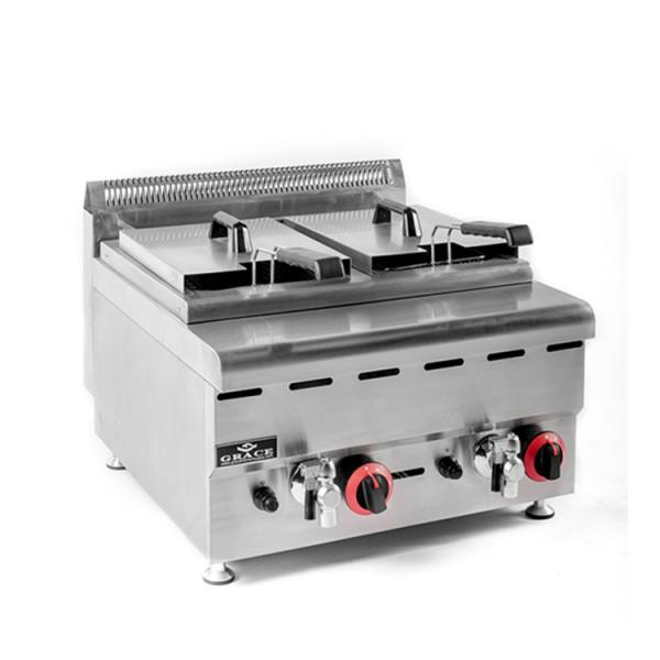 Factory Price Twin-Tank Deep Electrical Gas Fryer #1 image